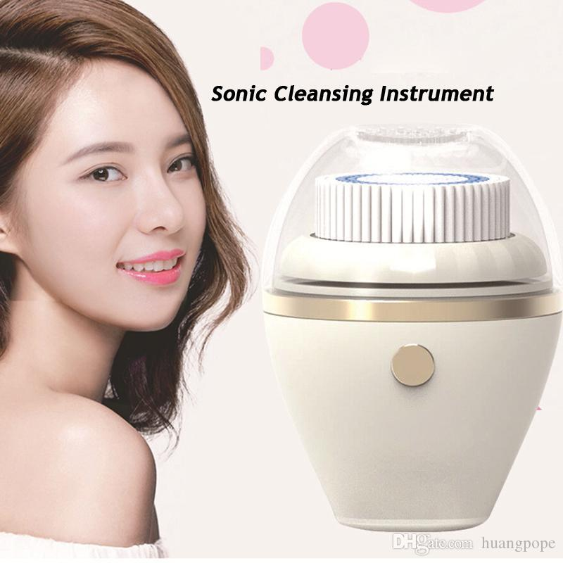 Electric Face Cleaning Brush Cleaner Sonic Deep Cleansing Instrument Facial Message Beauty Equipment Device USB Rechargeable