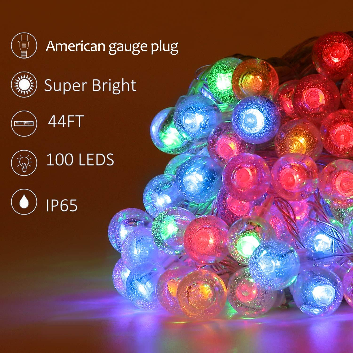 LED String Light 20 LEDs Indoor and Outdoor Waterproof Decorative Crystal Lights  for Bedroom Garden Birthday Party Christmas Tree