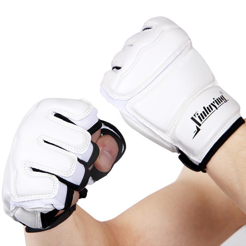 الملاكمة نصف أصابع الكبار قفازات الملاكمة / أطفال كيس الرمل التدريب / قفازات ساندا / كاراتيه / الملاكمة التايلاندية / اللياقة البدنية / التايكواندو حامي