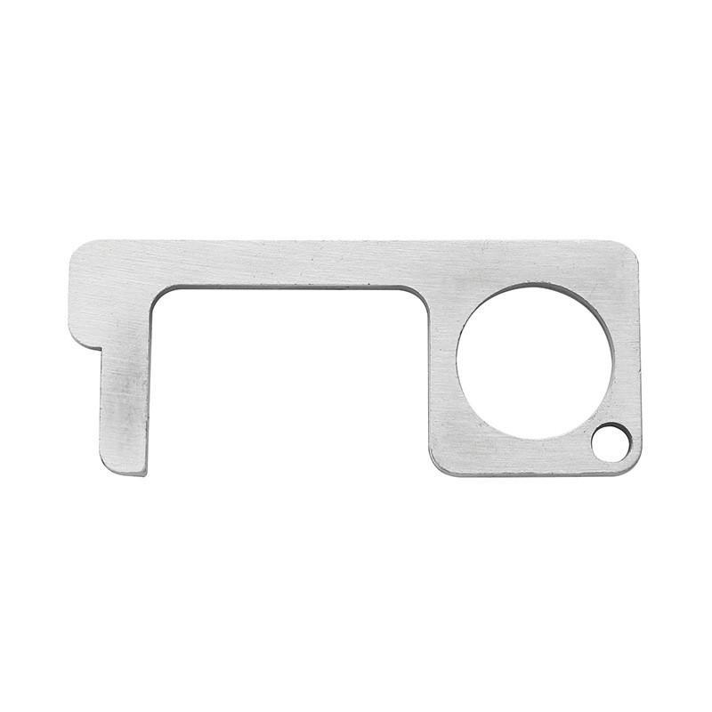 13 cor Porta de aço inoxidável portátil abridor de chaveiro de metal de liga de alumínio anel chaveiro Contactar abridores Ferramenta 500pcs controle T1I1933
