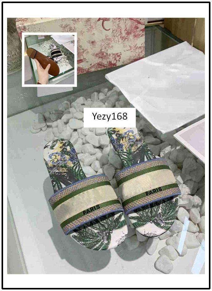 MEILLEURE QUALITÉ NOUVEAU Dazzle Fleurs femmes Designer chaussons à fond plat broderie Sandal Floral Brocade Slipper sandales de plage causales 9