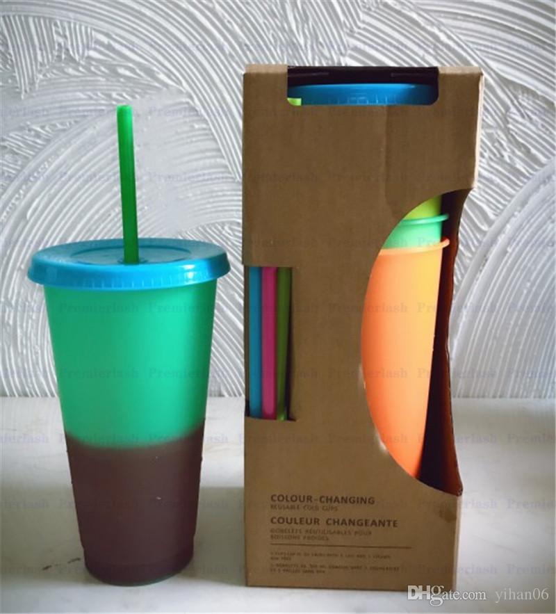 موجز القهوة كأس القدح الآس الساخن تغيير لون الحرارة رد الفعل الشاي الحليب كوب ماجيك أكواب dhl مجانا