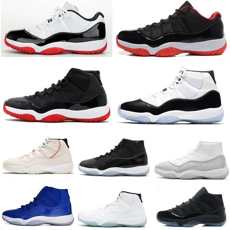 11s Bred Bred Concord Basket Basket Scarpe 11 Metallizzato Silver Space Jam Men Donne Cap And Gown Gym Red 72-10 Sneakers sportivi Sneakers Soe uomo
