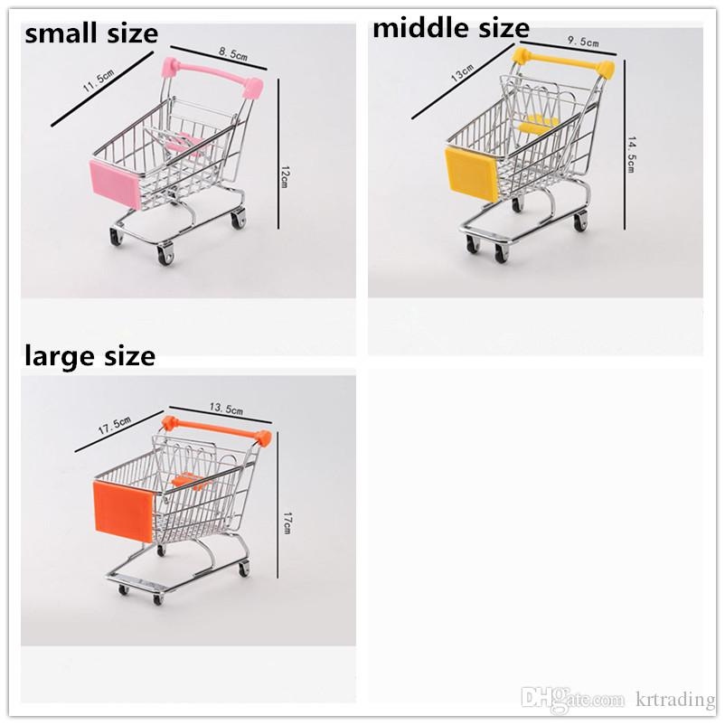 Mini Supermarket Cart Handcart Trolley Kids play house Game Props Toys Guardian Folding Shopping Cart Children Novelty Items Multicolor