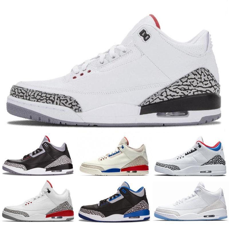 Jumpman 3 3s III Beyaz Siyah Çimento Kurt Gri Metalik Erkekler çocuk basketbol ayakkabıları ucuz mens spor ayakkabıları ayakkabı Çimento