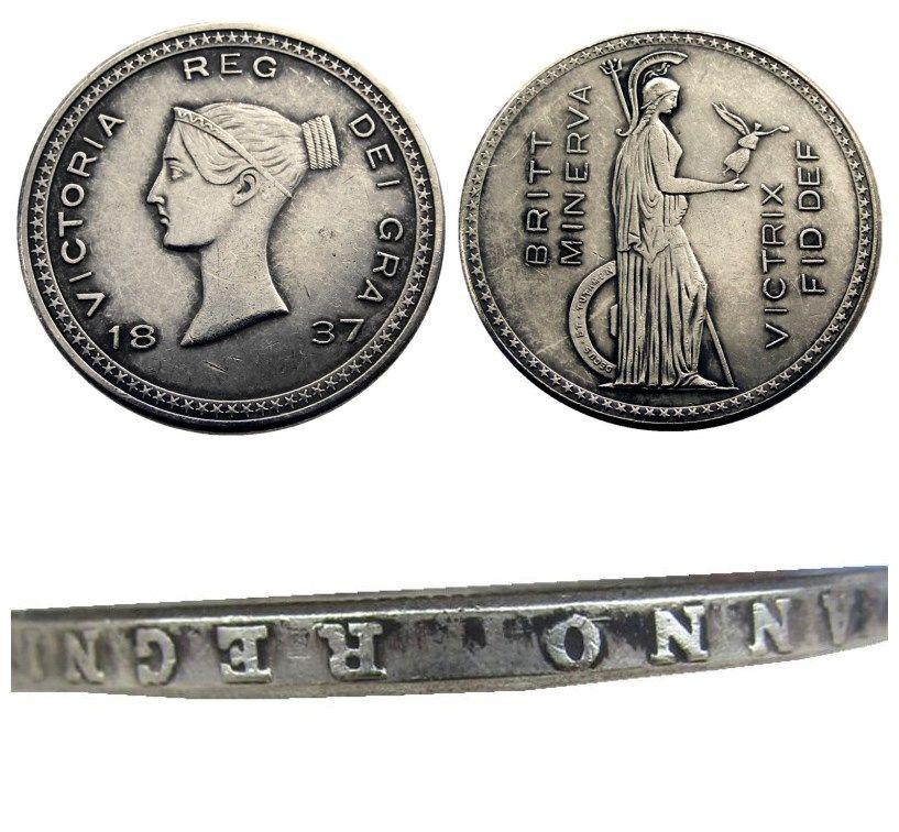 Büyük Britanya Victoria gümüş Desen Taç 1837 Kopya Para ev dekorasyon aksesuarları