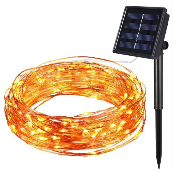 Dekor Hahn Led Filament String Licht Solar Power Hochzeit Dekoration Weihnachten Starburst LED Feuerwerk Baum Lichterketten