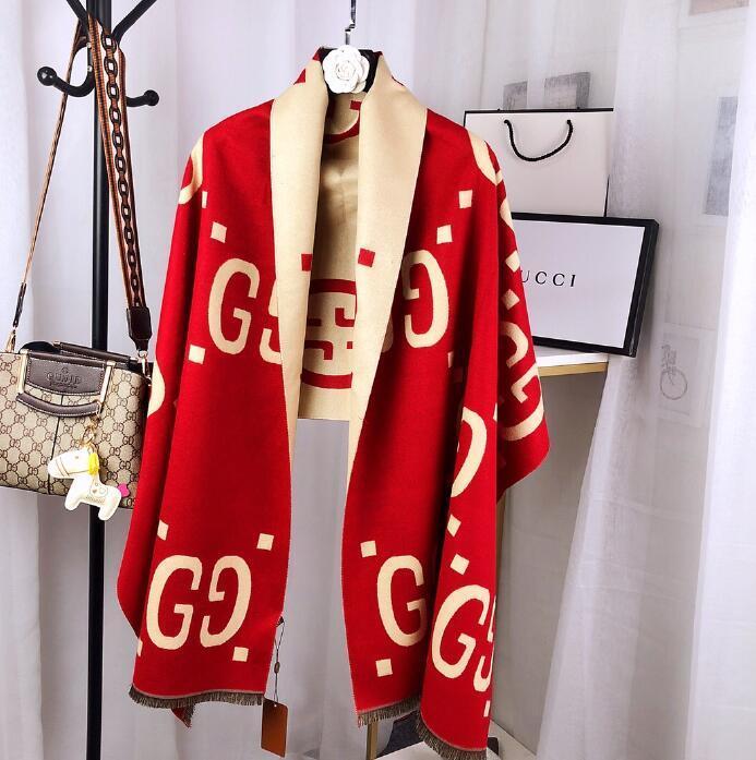 qualità di lusso G Limited Edition disegno squisito sciarpa di cachemire Superior stampa splendido elegante di marca sciarpa trasporto libero 102.611