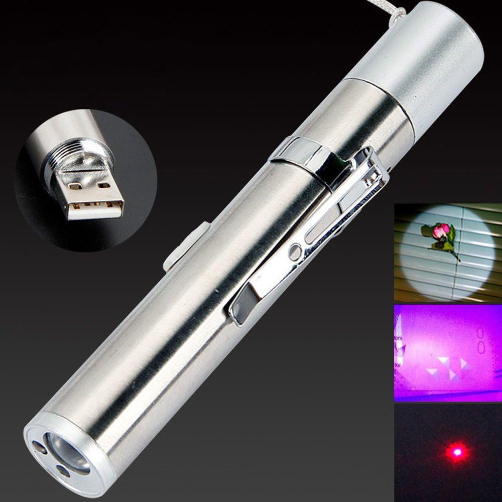 BRELON СИД перезаряжаемые фонарик UV + IR + Illuminated Pen Light 3 Функция Mini Medical Pen Holder фонарик