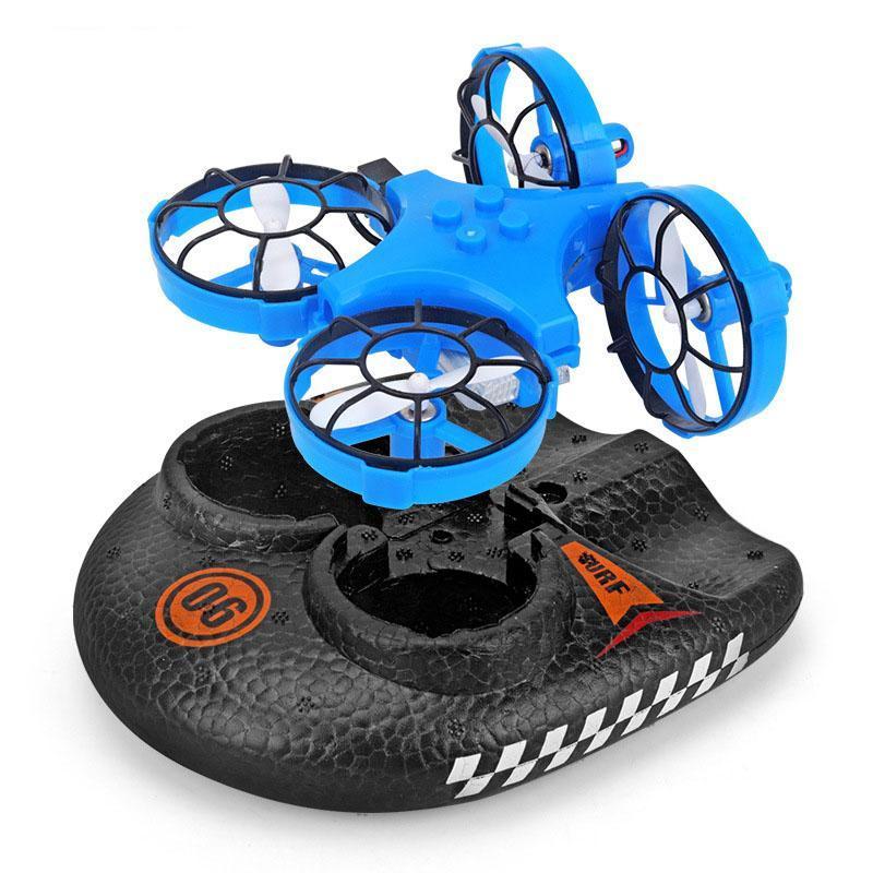 Hovercraft Vehículo Barco y / 3en1 Mini RC Drone Drone Quadcopter / Niños Juguetes Por Sea Land y juguetes para niños Aire Dron