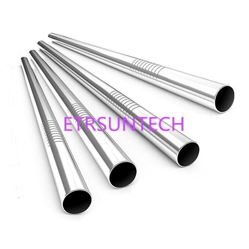1000pcs / lot trasporto veloce di alta qualità in acciaio inossidabile 304 paglia metallo bolla perla Cannuccia riutilizzabili 12 millimetri x215mm