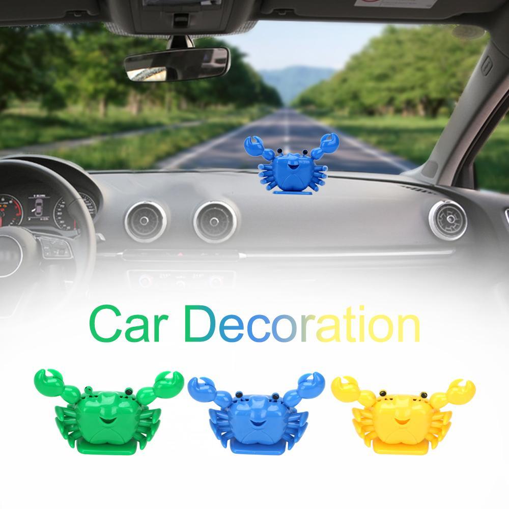 Crab Animated Ballerino Dashboard Decoration Accessori Auto Car ornamento regalo per i bambini Bambini Solar Powered giocattolo Danza