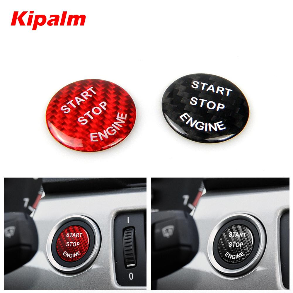 Kipalm ألياف الكربون ملصقا محرك السيارة بدء إيقاف زر ديكور غطاء ملصق ل bmw e60 e87 e90 e91 e92 e93 f20 f21 f22 f23 f30 f31