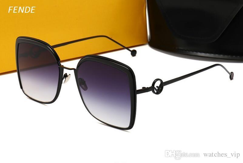 New Women's Sunglasses Fun Beaded Letters Mesh Metal Frame UV Protection Sunglasses 0294 Brand Glasses