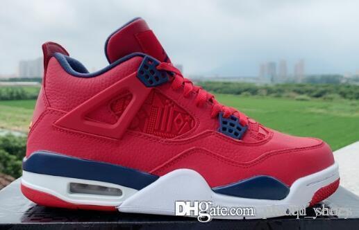 2019 NEW 4 SE ФИБА Gym Red мужской баскетбольной обуви 4с разводили Что Silt Красный Белый цемент БЛЕДНО CITRON CACTUS JACK кроссовки