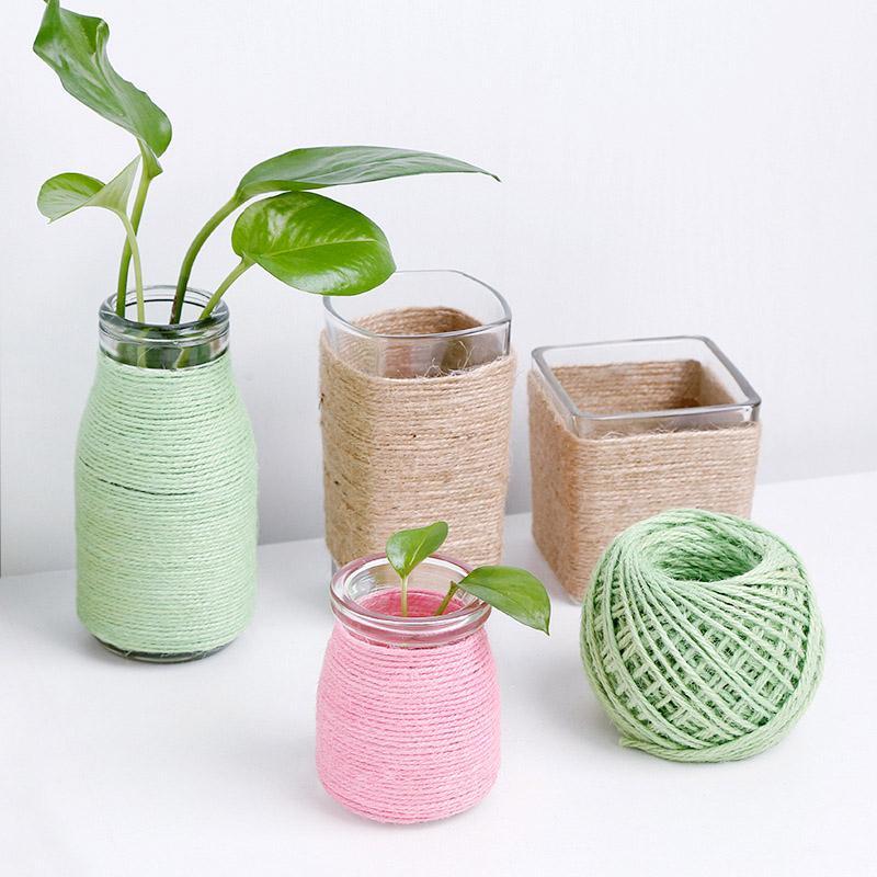 1 Pcs Hemp DIY Trussing Amarrar Artes Ofícios Hangtag presente Início Decoração Jardinagem Cozinhar Twine UD88