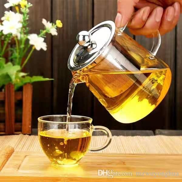 Heat-resistant glass teapot,400ml, design of the lid to prevent broken,Blooming Tea,flower tea,Special teapot