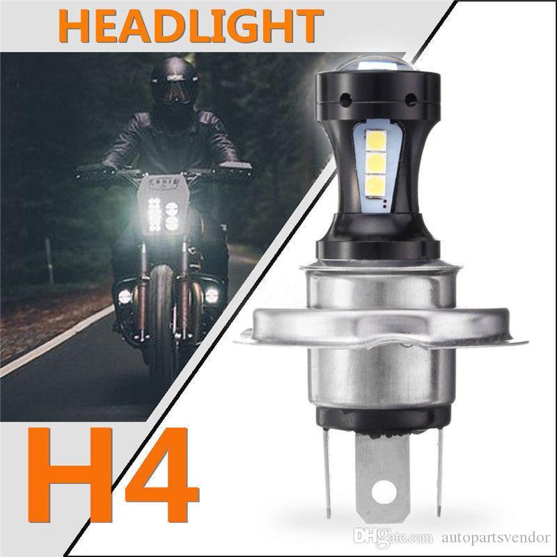 H4 Motocicleta 3030 Bombilla LED Hi-Lo luz del faro de luz de lámpara Jefe 6500K 12-24v Moto coches eléctricos faros H4 6500K 800LM