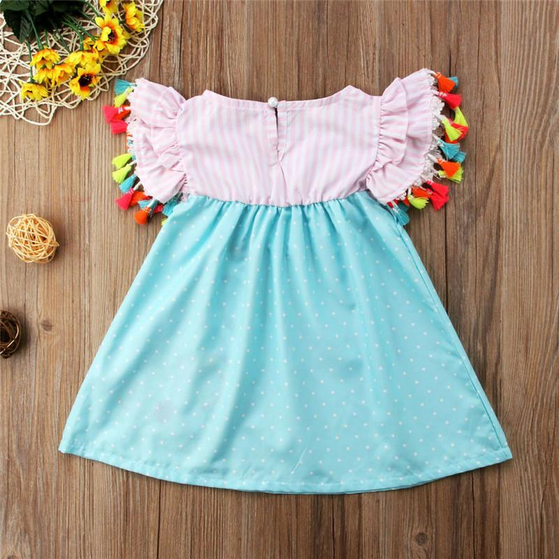 Summer Toddler Baby Kids Girls Flamingo Casual Dress Sundres Clothes Age 1-6T
