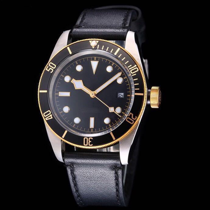 2019 hot classic luxury men's watch small safflower series original mechanical movement hd coated glass gentleman business