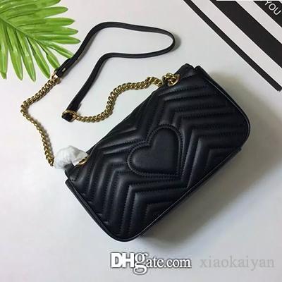 New G TOTE Moda Marmont Mulheres Couro Real Handbag cadeia de metal Bolsas de Ombro Crossbody Mensageiro bolsa de alta qualidade bolsas Saco fêmea