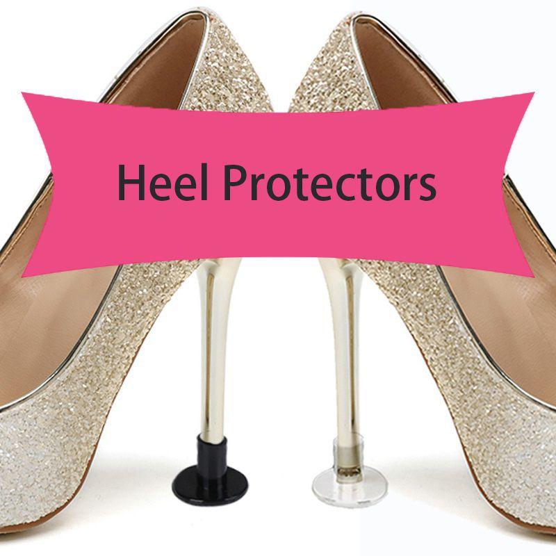 PVC protetor de calcanhar capa para saltos altos latão Stiletto Anti-skid resistente ao desgaste e calcanhar mudo tampa circular do prego protetores de calcanhar SJB001