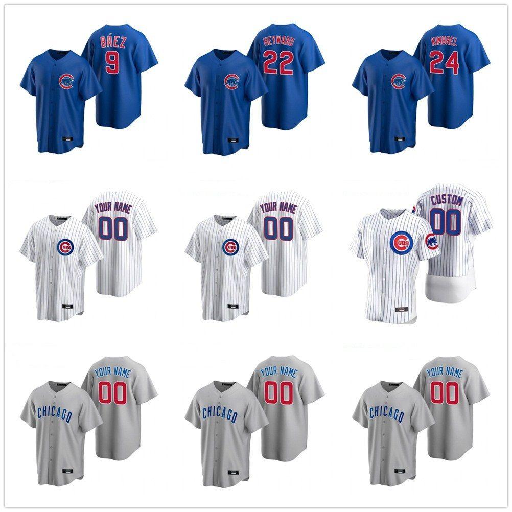2020 Albert Almora Jr. Jersey Herren David Bote Jason Heyward Andre Dawson Addison Russell Kyle Schwarber Baseball-Shirts Individuelle genähtes