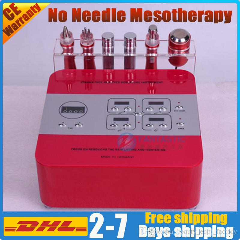 No-needle mesotherapy device facial skin care electroporation face lift needle free wrinkle removal rf skin rejuvenation microcurrent rf bio