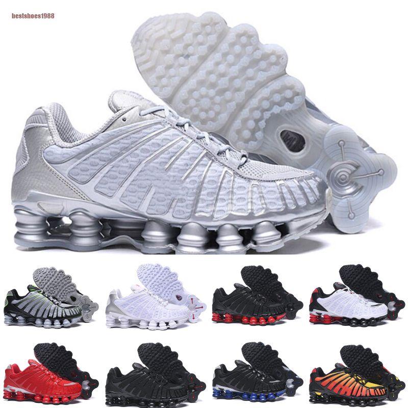 Nike Shox TL 1308 Top Qualité TL Hommes Chaussures De Course Respirant Sneakers Noir Blanc de marche en plein air sport chaussures R4 formateurs
