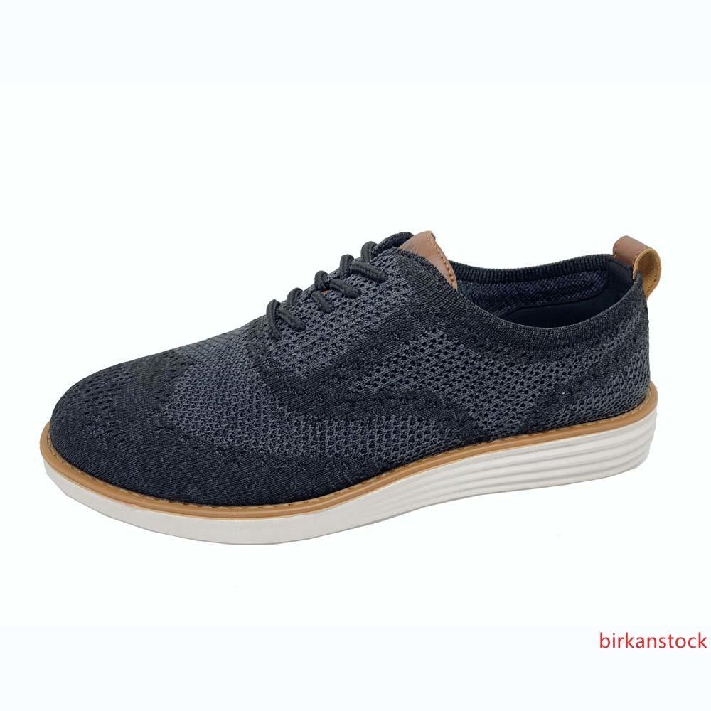 clásica para hombre de moda los zapatos ocasionales con cordones de los zapatos oxford transpirables