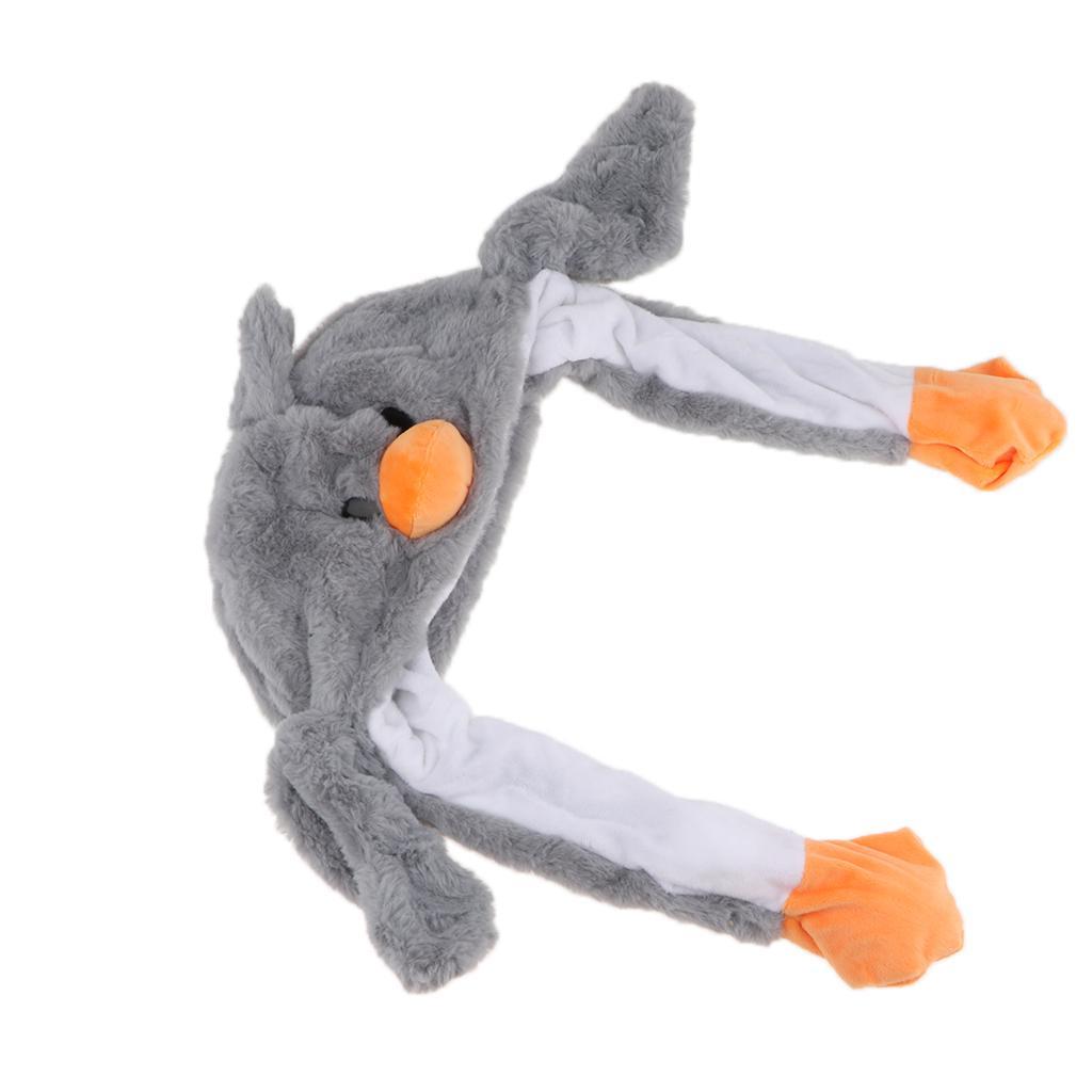 Милая плюшевая утка шляпа фаршированные животные игрушечные дети подарок, уши подвижные