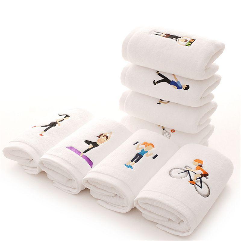 Cotone asciugamano sport ricamo 110 g di spessore asciugamano 20 * 110 centimetri di golf può essere personalizzato LOGO