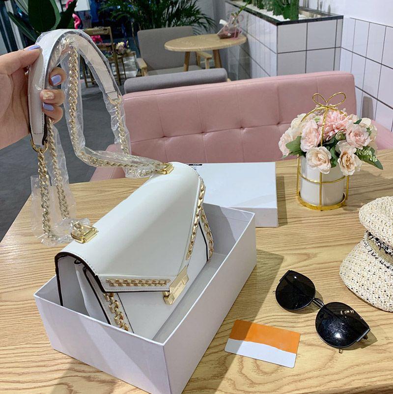 rivets whitney sacs à bandoulière pour les femmes crossbody véritable sac à main en cuir sacs sac chaîne de la mode féminine de haute qualité 2020