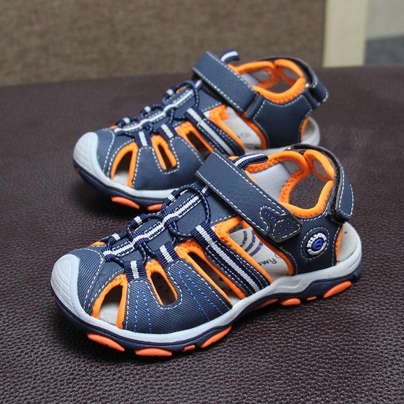 Nouveau design 1pair Garçon Enfants bech Sandales en cuir, chaussures de loisirs pour enfants