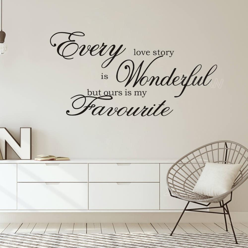 Love Story Quote Wall Sticker Diy Home Decor Bedroom Living Room Removable Wall Art Decoration Vinyl Wall Decals Wallpaper Wall Stickers Uk Wall Stickers Vinyl From Joystickers 10 85 Dhgate Com,Childrens Bedroom Kids Bedroom Furniture Sets