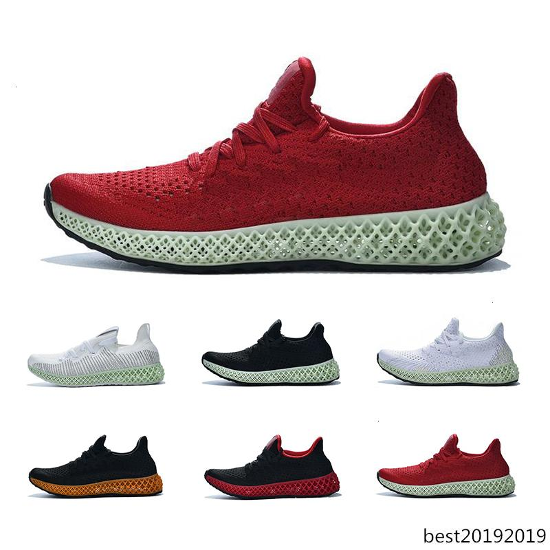 Marca originale Alphaedge 4D Runner Running shoes Triple nero rosso Volt bianco Breathe Sneakers Sport mens formatori formato 40-46