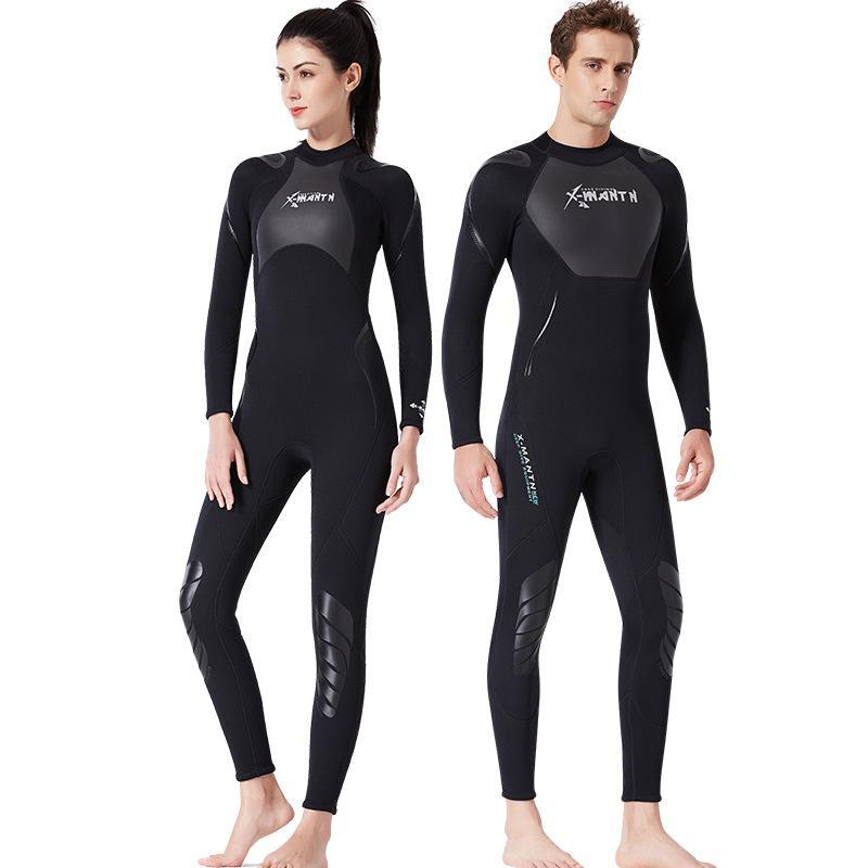 차가운 물 스쿠버 스노클링 Spearfishing에 대한 몸 전체 남성 3mm 네오프렌 잠수복 서핑 수영 다이빙 슈트 트라이 애슬론 잠수복