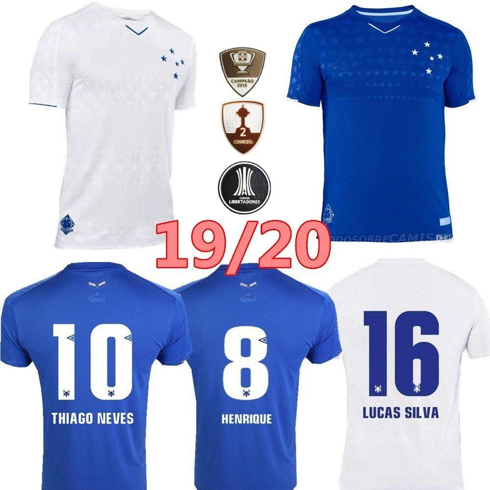 19 20 Cruzeiro 축구 유니폼 DE ARRASCAETA FRED ROBINHO THIAGO는 SASSA DEDE RAFAEL SOBIS를 없앤다 Custom Blue White 남자 여자 축구 셔츠