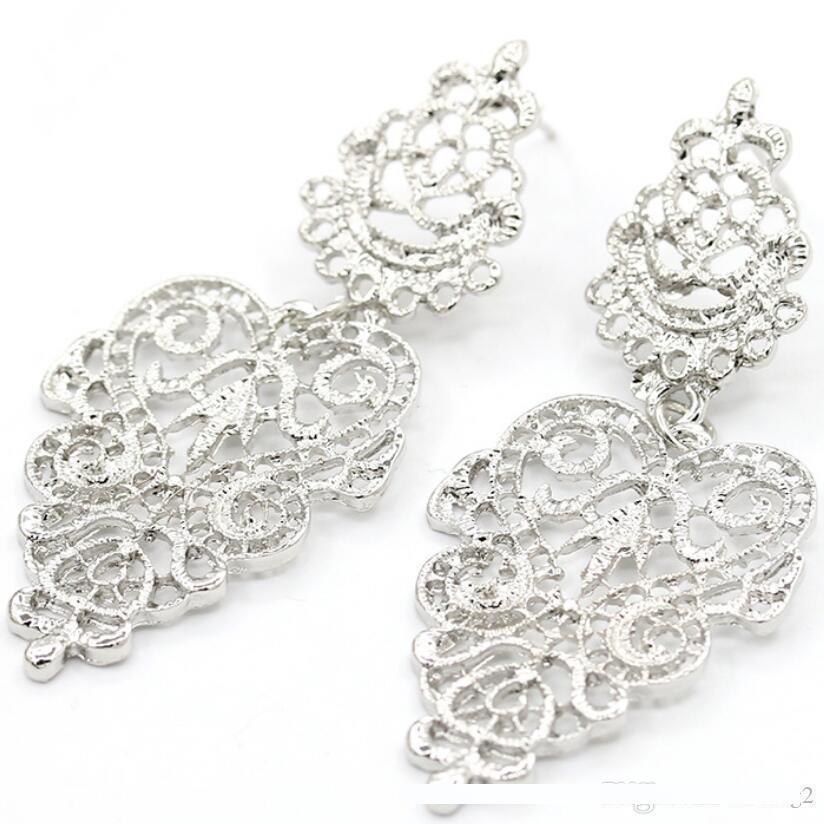 diseñador de joyería pendientes Bohimian deja fuera huecos chram pendientes para las mujeres de moda caliente libre del envío