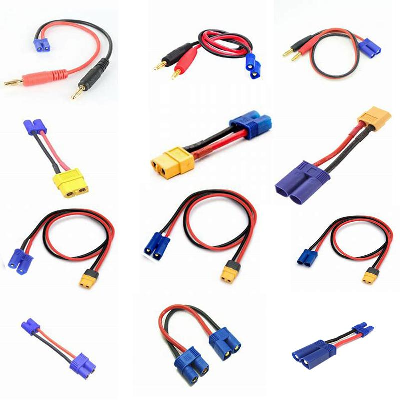 FUSE MODEL RC charger cable power leads 4mm to male EC2 EC3 EC5 Amass XT60 female EC3 female for all RC Charger Imax B6 ISDT Hobby charger