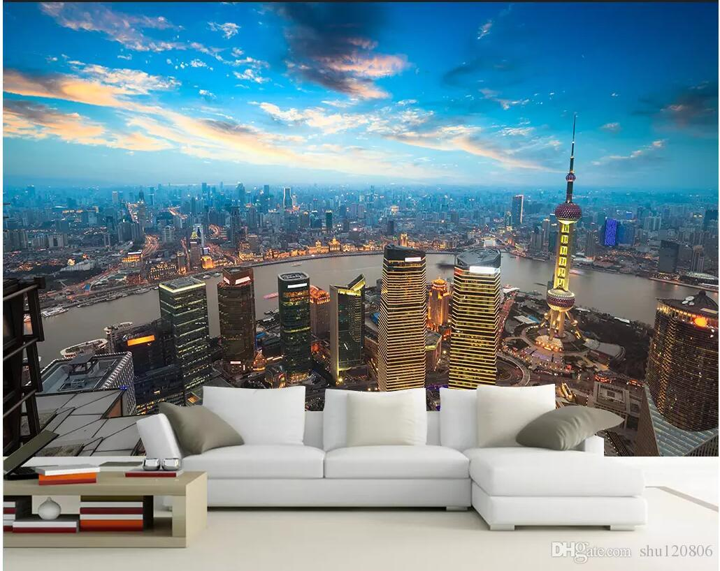 Wdbh 3d Wallpaper Custom Photo Shanghai Oriental Pearl Photography Painting Living Room Home Decor 3d Wall Murals Wallpaper For Walls 3 D Free Desktop