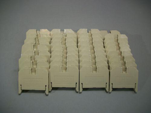 Siemens único pólo Blocos de terminais 8WA1 011-1GD11 750V lote de 40