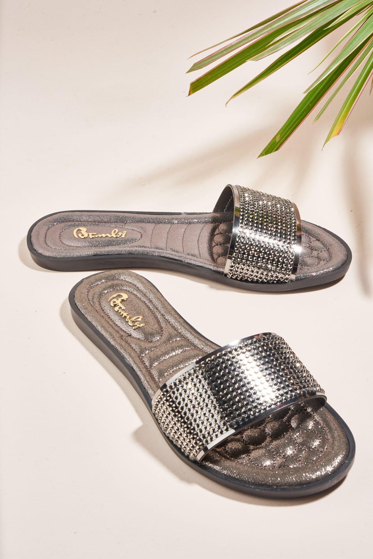 Bambi Platino Mujeres 'S Zapatillas H0635181039