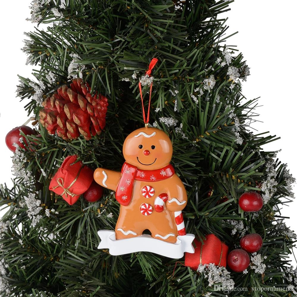 Maxora Resin Gingerbread Christmas Ornaments Man Woman Boy Girl Tree Decorations Gift For Baby Boy Girl Christmas Decor Wholesale Christmas