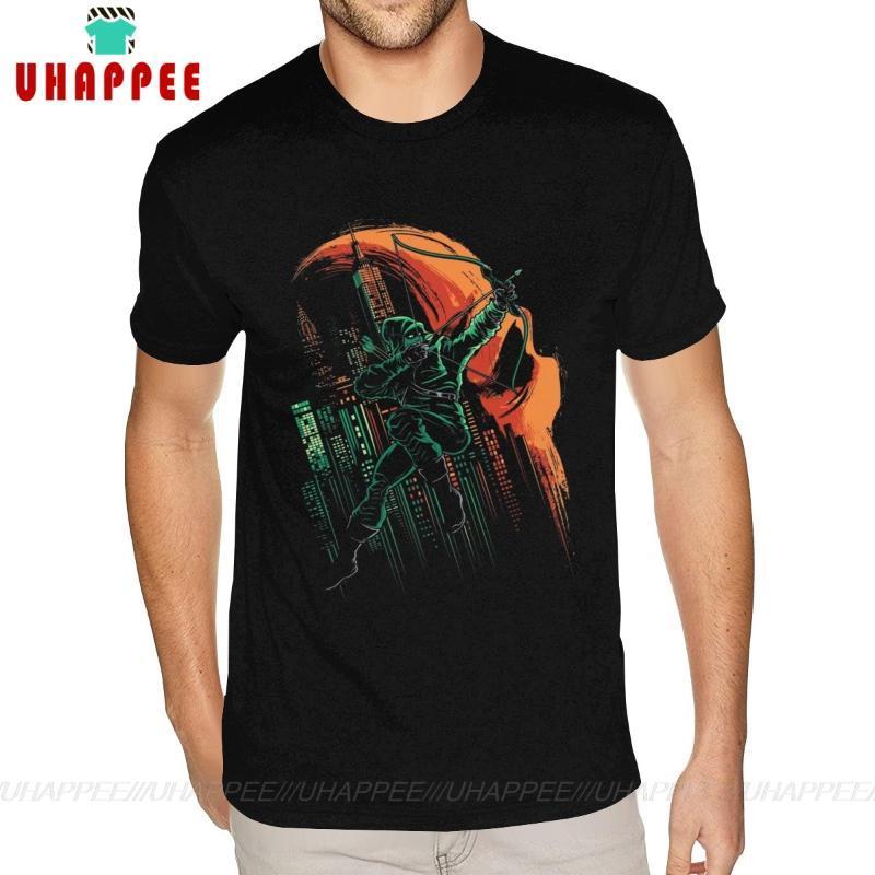 Oversized Green Arrow Exterminador T-shirt Mens Custom Made Neck Manga Curta Inteiro Preto Algodão Redonda camisetas