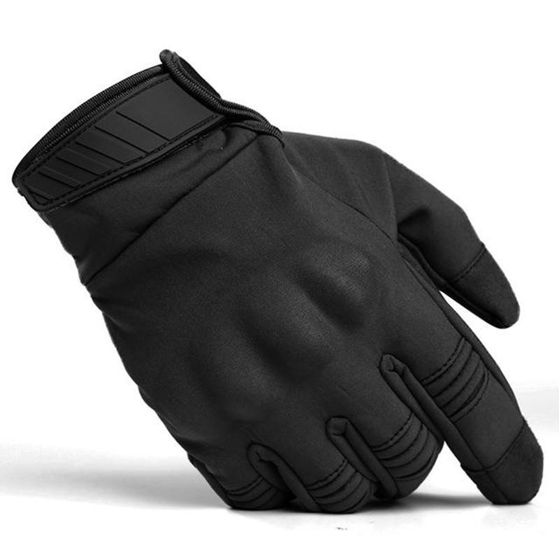 Schermo soft shell impermeabile Finger Gloves completa esterna Uomini Equitazione Training può toccare