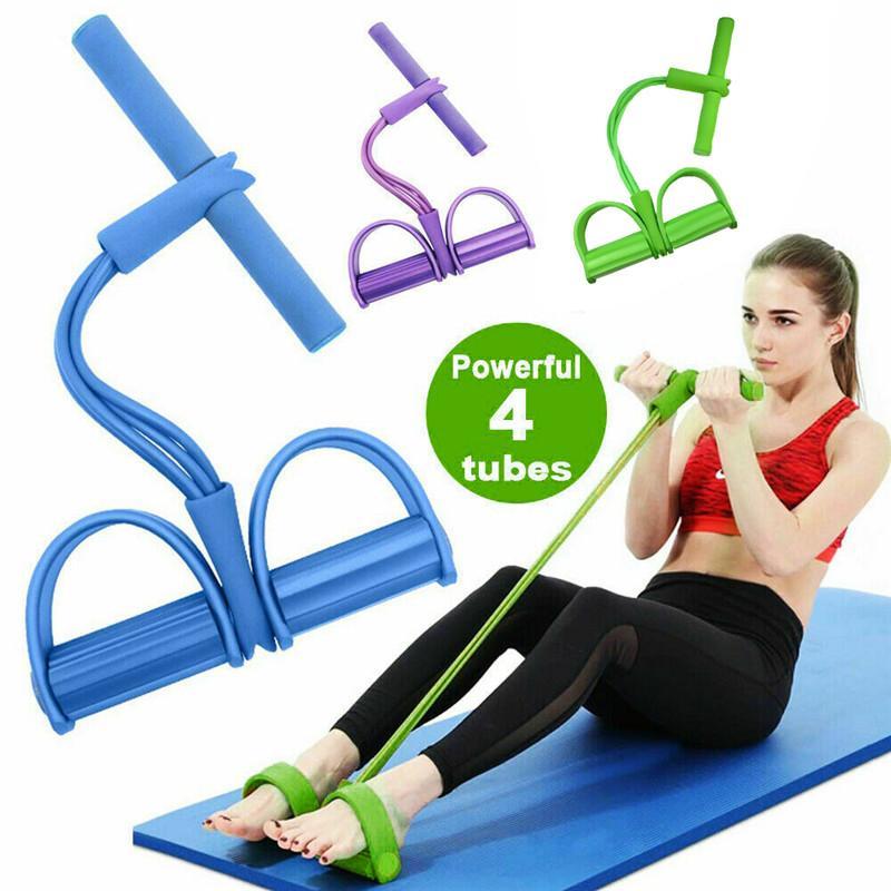 Ajustable de la cuerda push-pull 2020 nuevos 1PCS multifuncional 4-capítulo Sit-up Bandas tensor aptitud de los deportes de carrera Juegos Puller