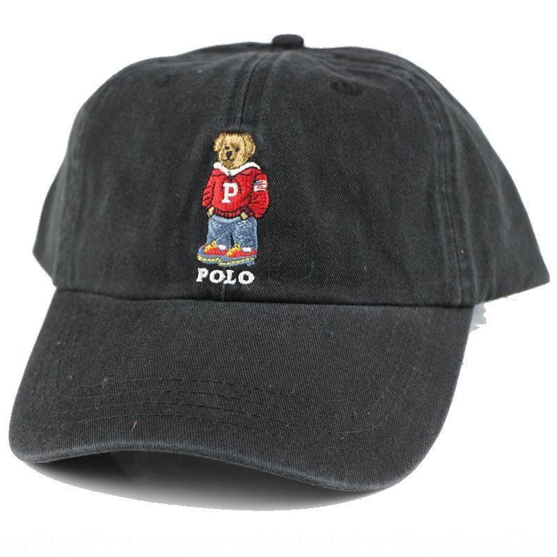 polo nuova moda stile coreano di baseball di baseball uomini berretto e sole-prova per il tempo libero delle donne Cap Orso maglione a forma di p Classic