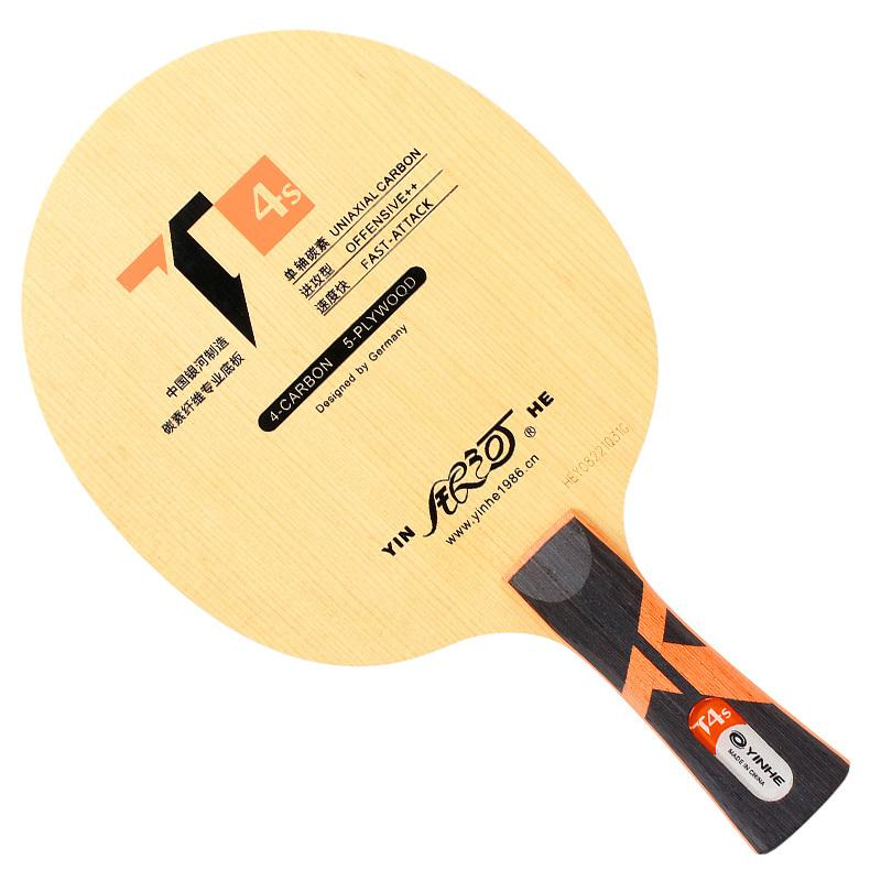 Genuine Yinhe / Galaxy T-4S Table Tennis Blade (5 wood + 4 uniaxial carbon) Ping Pong Racket Base Raquete T200410