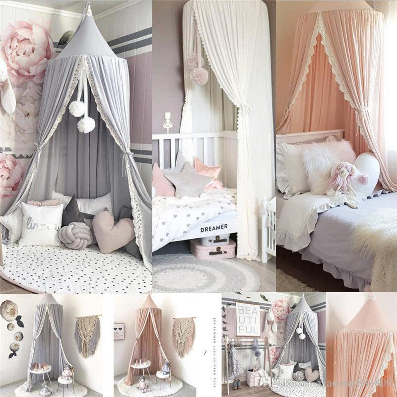 Kids Baby Bed Canopy Netting Bedcover MosquitoNet Curtain Bedding Dome Single